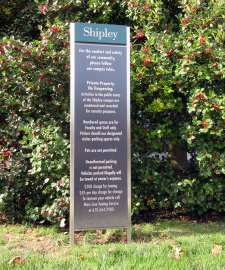 Shipley School wayfinding by Kent Design