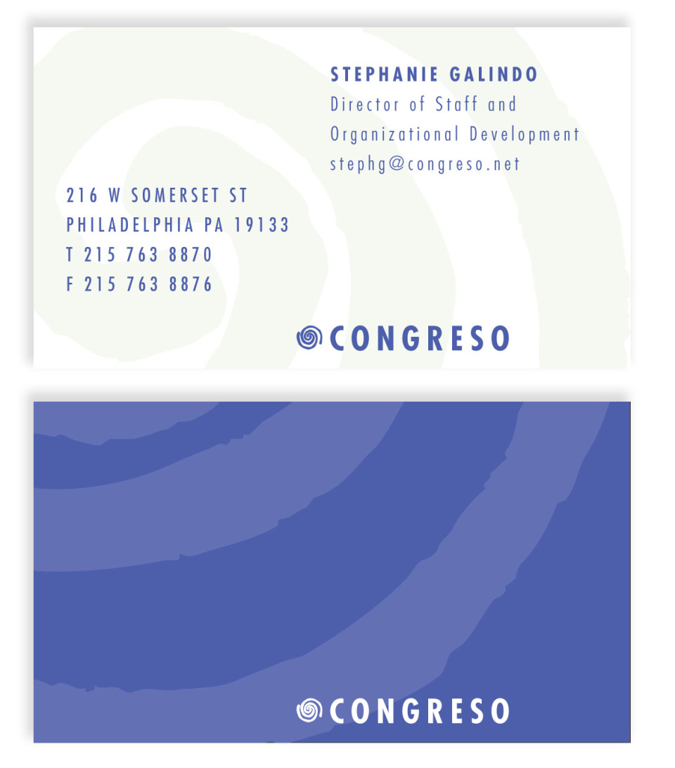 Congreso business cards