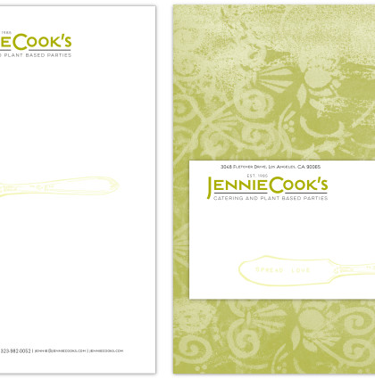 Jennie Cook's Catering Identity